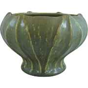 Rookwood Arts & Crafts Pottery Vase With Leaves Matte Green Glaze