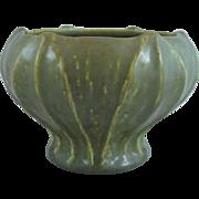 Rookwood Arts & Crafts Pottery Vase With Leaves Matte Green Glaze
