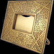 Tiffany Studios Gilt Bronze And Favrile Glass Grapevine Picture Frame