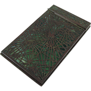 Rare Tiffany Studios Pine Needle Pattern Bronze And Glass Note Pad