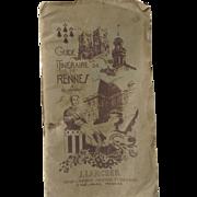 Guide Itinéraire  de Rennes & Ses Environs J Larcher 1942 Map France Travel Guide