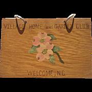 Davidson County Welcome NC North Carolina Garden Club Book Wood Dogwood Vintage