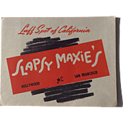 Slapsy Maxie's Hollywood San Francisco California WWII Souvenir Photograph Military