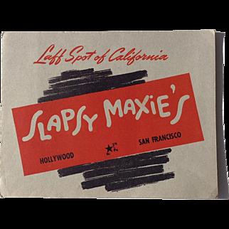 Slapsy Maxie's Hollywood San Francisco California WWII Souvenir Photograph Military