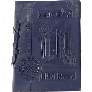 Emory University 1933 Commencement Booklet Georgia Atlanta