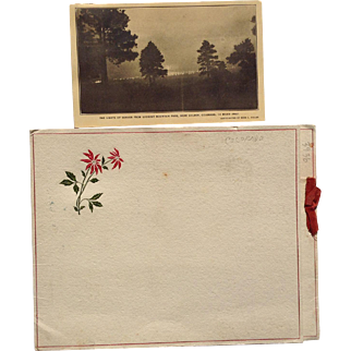 Post Card Sepia Photograph Christmas Card Rees Vidler Lookout Mountain Park Colorado