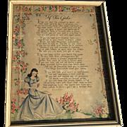 A Hallmark Motto Print Framed If For Girls Vintage