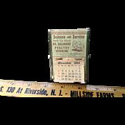 Dr Salsbury Poultry Medicine Charles City Iowa 1952 Calendar Mirror Chicken Advertising