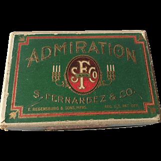 Cigarette Cigar Box Admiration Gems Mild Fernandez & Co Tobacco