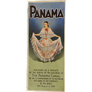 The Panama Canal 1939 Fold Out Brochure Maps Printed In Italy History Photographs 25th Anniversary