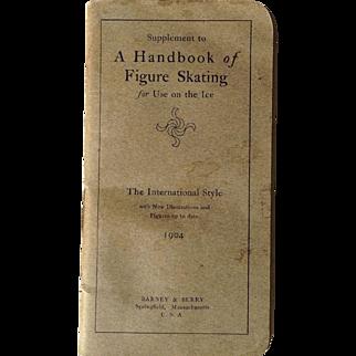 Handbook Of Figure Skating 1904 George Browne International Salchow Fuchs Illustrated Sepia Photo Postcard