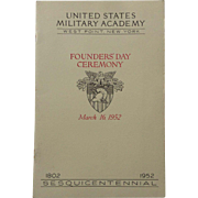 Sesquicentennial 1952 United States Military Academy West Point Founders' Day