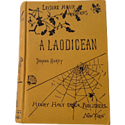 A Laodicean Thomas Hardy Leisure Hour Series First American Edition 1881