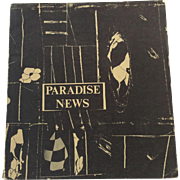 Paradise News Poet Illustrated 1st Edition 1966 Frank Kunstler