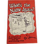 What's The Name Again ? Bill Dyer Cartoon Collection Knoxville Memphis 1949