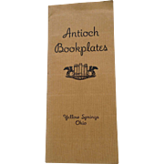 Vintage Antioch Bookplate Yellow Springs OH Ohio Catalog 1941 Sample Illustrated