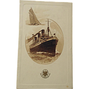 "Menu, United American Lines, Inc, ""S. S. Reliance"", Wednesday, August 2, 1922."