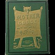 Mother Goose Set To Music J W Elliott 1871 Brothers Dalziel
