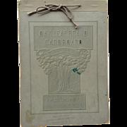 Oak Leaf Brand Cardboard Sample Book Collins Mfg Rochester N.Y.