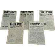 WWII Fleet Pony News Letter Newspaper 1944