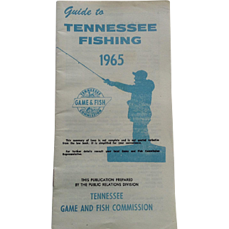 Guide To Tennessee Fishing 1965 Tennessee Game and Fish Commission
