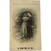World War 1 Postcard At Braxton W. VA