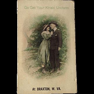 World War 1 Postcard At Braxton W. VA