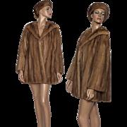 Mink Coat// Real Fur// Designer Mink Coat// Pastel Mink Coat// Femme Fatale //Matching Hat
