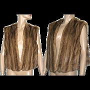 Vintage Mink Vest//Fur Vest//Brown Mink//Fur Coat//Mink Stole// Femme Fatale// Coat// Jacket //Stole//M/L
