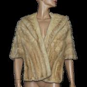 Vintage Mink Stole// Platinum Mink //Satin Lined//Stein Bros Furs// Mink//60s//luxurious//Couture