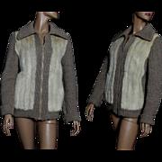 Vintage Sweater// Blonde Mink// Wool Sweater//Designer Graggs Furs//1970s// Mink Sweater//Satin Lined