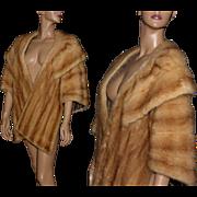 Vintage Stole // Mink Fur// Wedding Stole// Designer Wolfe Brothers Original// Satin Lined// Oversized Collar //Femme Fatale// Marilyn Monroe