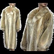 Vintage Coat// Full Length//Fox Fur// Satin Lined //Designer Graggs//Fox Fur Coat// Femme Fatale // Couture//Gorgeous