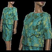 Vintage Suit// 1960s// Outfit//Floral Pattern// Garden Party // Couture