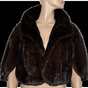 Vintage Mink Stole// Mink Shawl// Brown Mink// Red Mink// Fur Mink Stole// Designer Mink// Wedding Mink Stole//S/M
