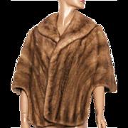 Vintage Stole // Mink Fur // Wrap // Two Toned // Medium// Large// Satin Lined // Wedding Stole // Designer// Femme Fatale //Marilyn Monroe