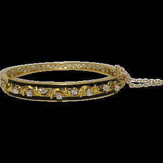 Vintage Retro Diamond Bangle Bracelet