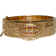 Antique Victorian Diamond Bangle Bracelet