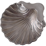 Antique Solid Sterling Silver Shell Shaped Dish 1893/ L 14.2 cm/ 94 g