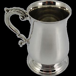 Heavy Solid Sterling Silver one pint Tankard Birmingham 1969 - 424g