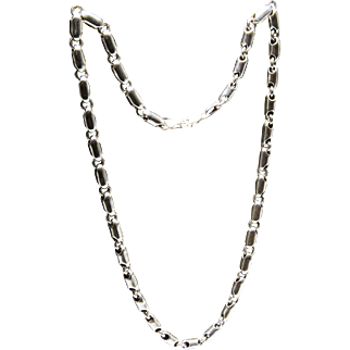 Chain for men, heavy, beautiful, handcrafted Silver 925 - 57 cm