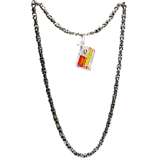Chain for men, beautiful, handcrafted Silver 925 - 60 cm