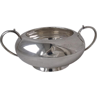 Smart Solid Sterling Silver Sugar Bowl 1919/ L 15.8 cm