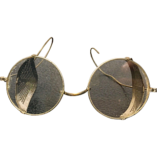 Antique Swivel Mesh Safety Glasses