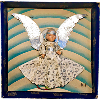 1940's Halo Tree Top Christmas Angel