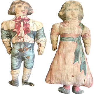 Antique Dutch Cloth Dolls