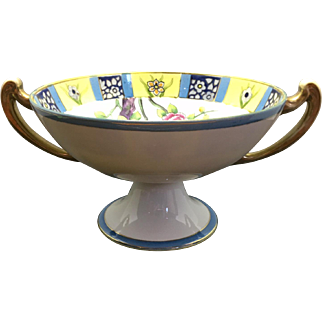 Nippon Pedestal Bowl with Handles