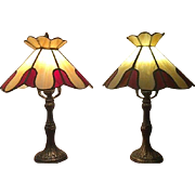 Vintage Tiffa Mini Lamp Set