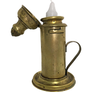 Antique Portable Brass Candle Holder