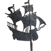 Ship Weathervane 1800s All Original Plymouth Massachusetts New England MA